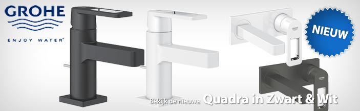 Nieuwe Grohe Quadra Zwart en Wit