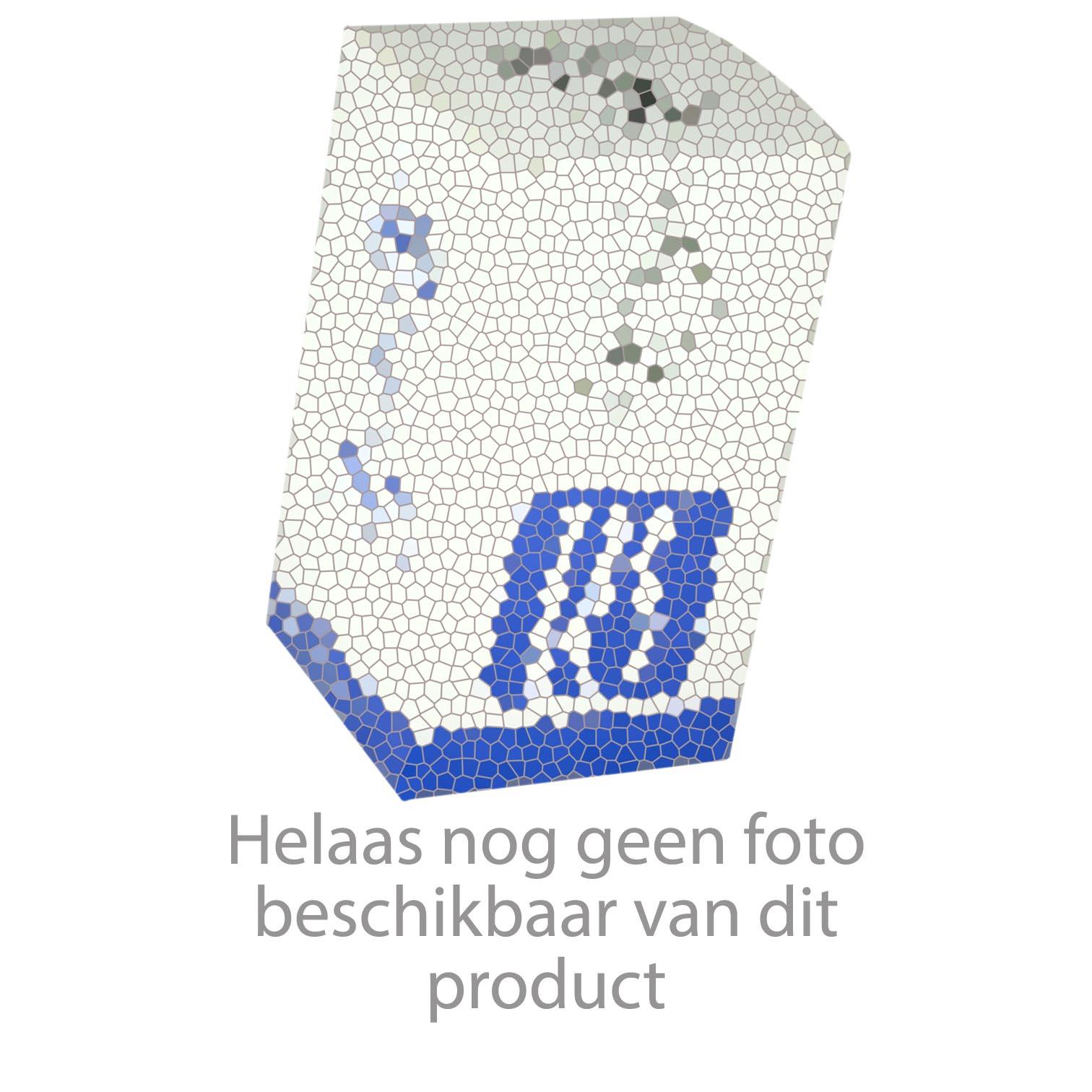 Alape Stahlform uitstortgootsteen plaatstaal 51x36cm met blauwe rand en overloop wit