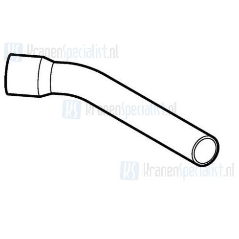Geberit Twico spoelbocht met lijmmof voor verlenging buis of bocht 30x10cm 44mm 45 wit
