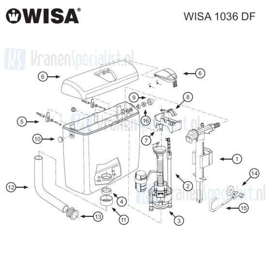 Wisa Onderdelen Wisa 1036 Dual Flush 8050423800