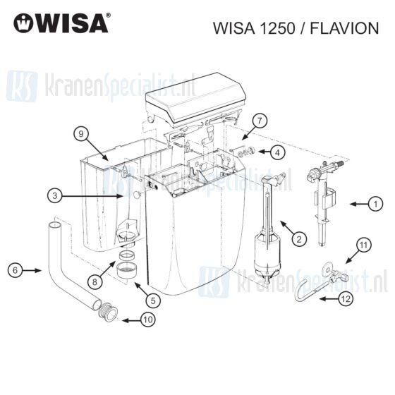 Wisa Onderdelen Wisa 1250 Flavion tot 1996