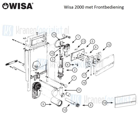 Wisa Onderdelen Wisa 2000 met Frontbediening  W2000000