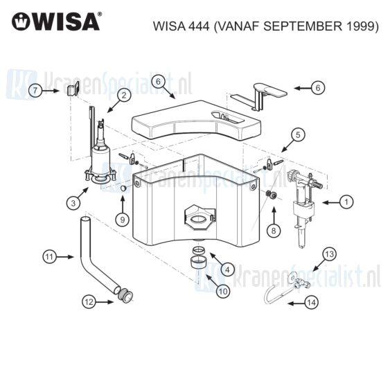 Wisa Onderdelen Wisa 444 Vanaf September 1999 8050428501