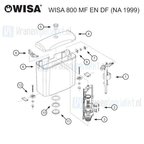 Wisa Onderdelen WISA 800 MF en DF (NA 1999) 8050425760