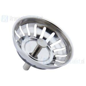 Blanco Korfplug 78mm met korte stift (35mm) en kogeltje 50mm dichting chroom