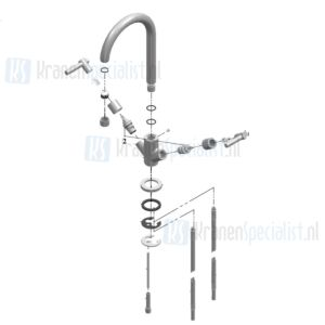 Dekorado / Lavanto�� Onderdelen Monoforo Lavello keukenkraan 31580 / 250615