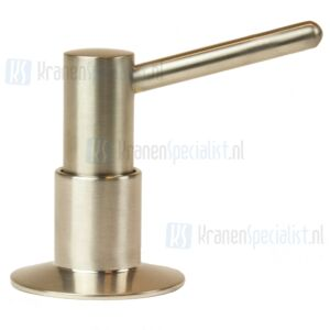 Doeco Jolly Bladzeeppomp met 60 mm uitloop, inhoud: 500 ml. Montagegat:  26 mm. Maximale bladdikte: 50 mm Inox-look