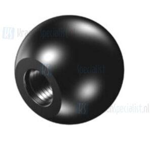 Echtermann Kogelknop diameter D1=32 D2=M6 zwart kunststof 'bakeliet Artikel nummer 6802-20