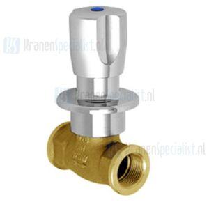 Echtermann Inbouw waterdoorloopventiel 3/4 verchroomd met warm/koud Artikel nummer 6863.30/8.6.1