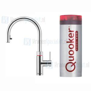 Quooker Flex 3-in-1 kraan met uittrekbare slang Chroom incl Pro3 VAQ E 1600W boiler