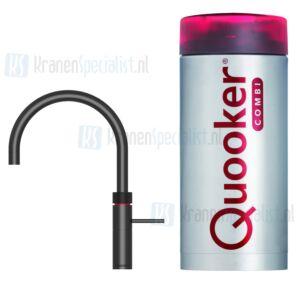 Quooker Fusion Round  3-in-1 kraan Zwart incl Combi E 2200W boiler