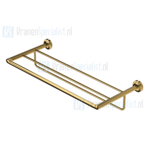 Geesa Tone Gold Collection Badhanddoekplateau 60 Cm Met Rek Goud