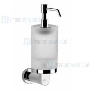 Gessi Emporio Accessories Zeepdispenser wandmontage met gesatineerd glas. Chroom