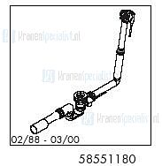 HansGrohe Afvoer- en overloopgarnituren Flexaplus productiejaar 02/88 - 03/00 58551180 onderdelen