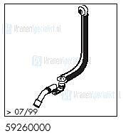 HansGrohe Afvoer- en overloopgarnituren Normaplus productiejaar > 07/99 59260000 onderdelen
