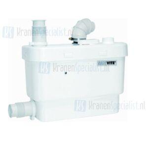 Sanibroyeur Sanivite vuilwaterpomp voor keuken, douche, bad, bidet en wastafel opvoerhoogte 5m of horizontaal 50m wit