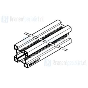 Geberit Gis profiel verzinkt per meter 3.2x3.2cm (lengte = 5 meter)
