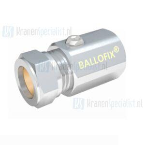 Ballofix regelstopkraan / kogelkraan 1/2x 12mm Knel Chroom