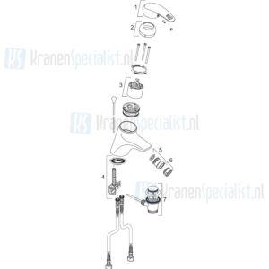 Venlo Onderdelen Arax Bidetmengkraan H8231A01