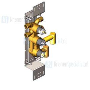 Vola Onderdelen Badthermostaat Type 6600 Inbouwthermostaat met 3-wegomstel Verticaal
