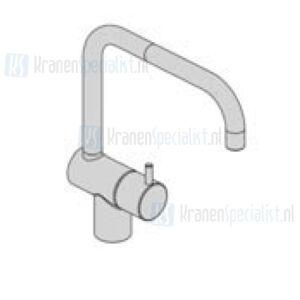 Vola Monoknop fonteinkraan (alleen koud water) met dubbeldraaibare uitloop Geborsteld Chroom Artikelnummer KV8+20