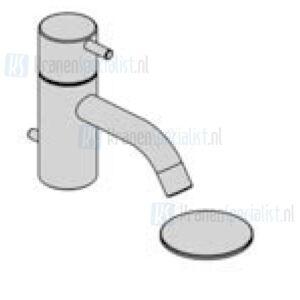 Vola Monoknop fonteinkraan met keramisch binnenwerk (Alleen koud water) Met waste 1 1/4 Geborsteld Chroom Artikelnummer RB3+20