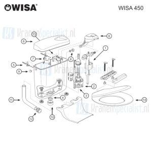 Wisa Onderdelen Wisa 450 Dual Flush tot 2006 8050428201