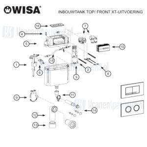 Wisa Onderdelen Inbouwtank Top / Front XT-Uitvoering WXT000000