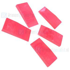 Universeel stel wigje rood per 5 stuks 0-5mm