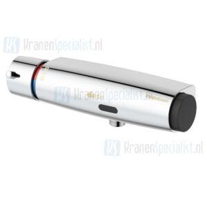 FM Mattsson Tronic elektronische douchethermostaat wandmontage met 1/2 onderaansluiting chroom