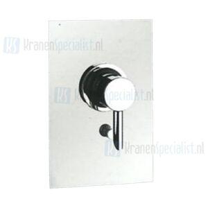 """Gessi Onderdelen Eclix inbouwbadkraan 1/2"""" m. omstel compleet; inbouw + afbouwdeel Chroom / Inox 17567.031 / 17567.142"""