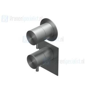 Ritmonio Diametro inbouwthermostaat in en afbouwdeel met stopkraan en losse rozetten Chroom
