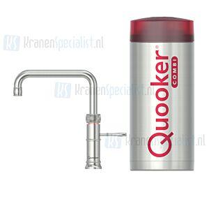 Quooker Fusion Classic Square  3-in-1 kraan RVS incl Combi E 2200W boiler