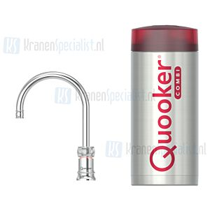 Quooker Nordic Classic Round Single Tap kraan Chroom incl Combi E 2200W boiler