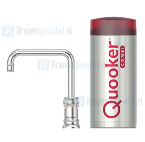 Quooker Nordic Classic Square Single Tap kraan Chroom incl Combi Plus E 2200W boiler