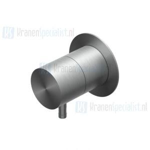Ritmonio Diametro35 INOX Stopkraan 3/4 met 1 permanente uitgang en 1 afsluitbare Black Stainless Steel