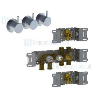 Vola onderdelen 5000 / 6000 serie inbouw Bad / douchethermostaat met aparte bediening tot 2018 geleverd 5400-6400