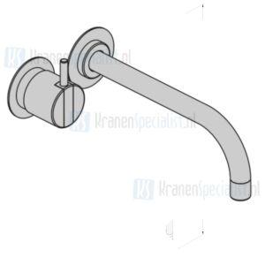 Vola Bedieningsknop NR18 225 mm vaste uitloop 020 rozetten 60 mm 001 3001. MAT  Wit Artikelnummer 121AP+28