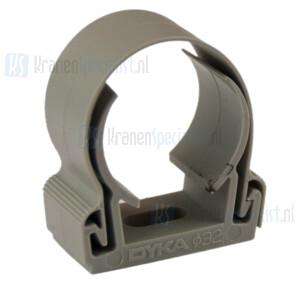 Dyka Zadel 32mm (klik) grijs