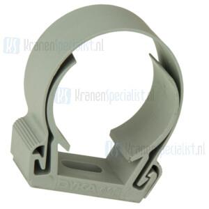 Dyka Zadel 40mm (klik) grijs