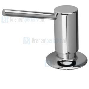 Doeco De Luxe Bladzeeppomp met 75 mm uitloop, inhoud: 500 ml. Montagegat:  26 mm. Maximale bladdikte: 50 mm Chroom