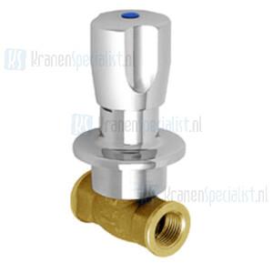 Echtermann Inbouw waterdoorloopventiel 1/2 verchroomd met warm/koud Artikel nummer 6863.20/8.6.1
