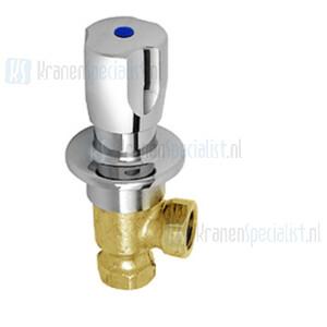Echtermann Inbouw water hoekventiel 1/2 verchroomd met warm/koud Artikel nummer 6926.20/8.6.1