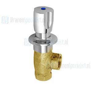 Echtermann Inbouw water hoekventiel 3/4 verchroomd met warm/koud Artikel nummer 6926.30/8.6.1