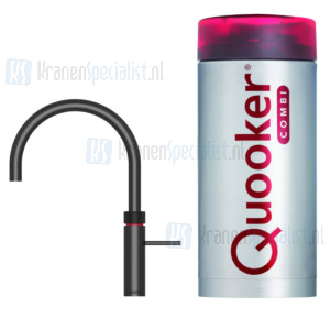 Quooker Fusion Round  3-in-1 kraan Zwart incl Combi Plus E 2200W boiler