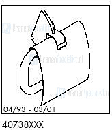HansGrohe Onderdelen Axor 1901 40738 (04/93 - 03/01)