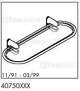 HansGrohe Onderdelen Axor 1901 40750 (11/91 - 03/99)