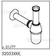 HansGrohe Afvoer- en overloopgarnituren Bekersifons productiejaar > 01/77 52053 onderdelen