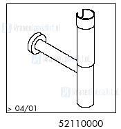 HansGrohe Afvoer- en overloopgarnituren Bekersifons productiejaar > 04/01 52110000 onderdelen