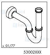 HansGrohe Afvoer- en overloopgarnituren Buissifons productiejaar > 01/77 53002 onderdelen